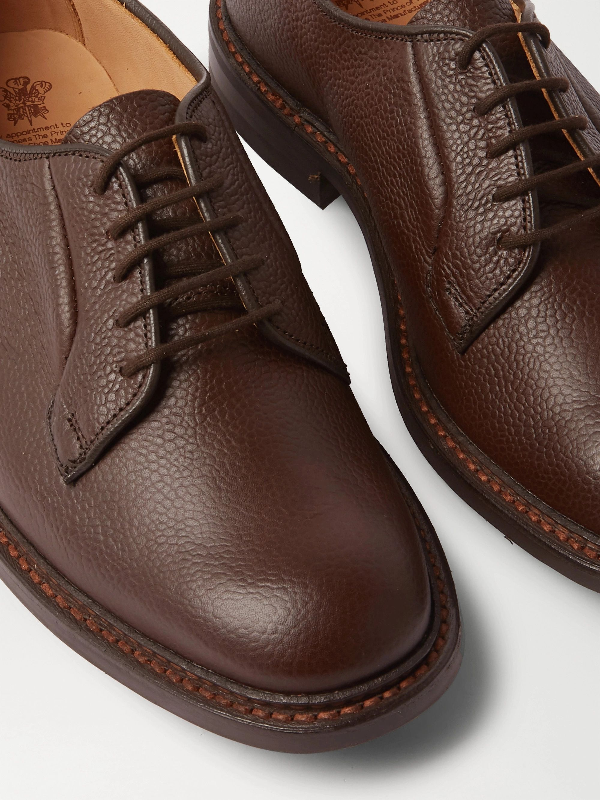 TRICKER'S Robert Full-Grain Leather Derby Shoes