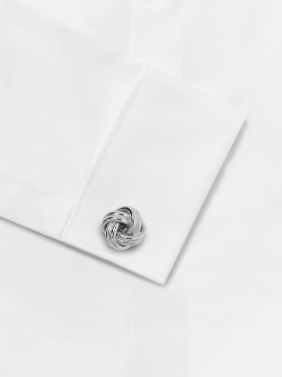 Lanvin Knot Rhodium-Plated Cufflinks