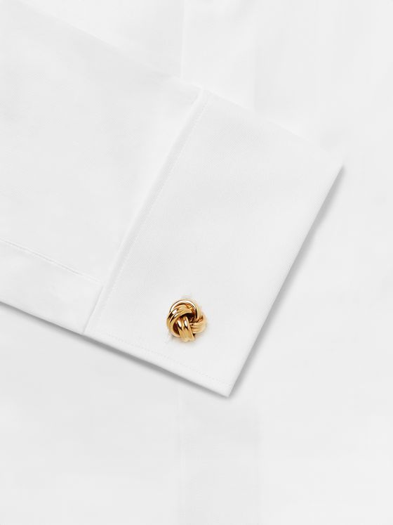 Lanvin Knot Gold-Plated Cufflinks