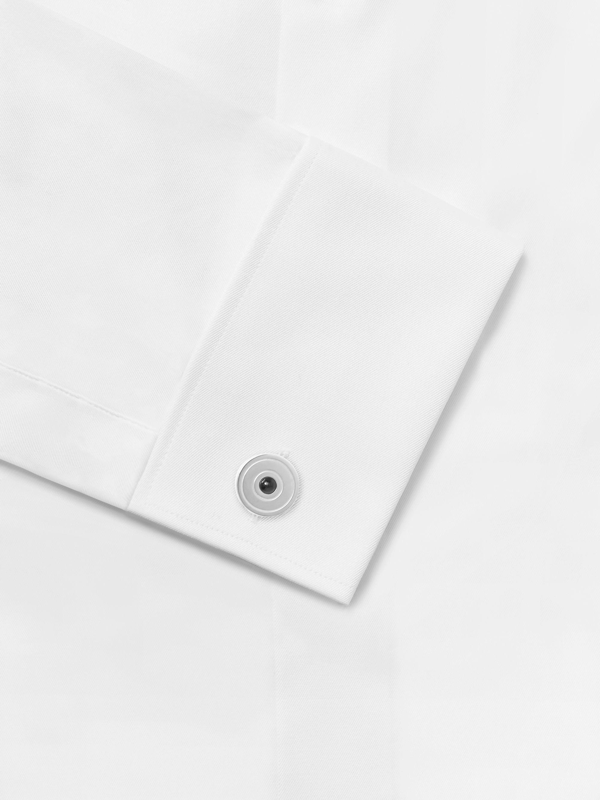 Silver Rhodium-plated Onyx Cufflinks | Lanvin