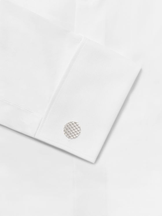 Lanvin Rhodium-Plated Cufflinks