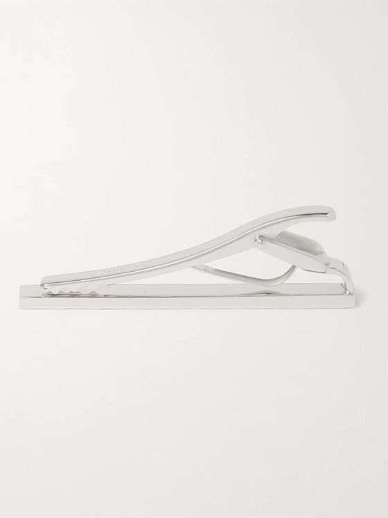 Lanvin Rhodium-Plated Tie Bar