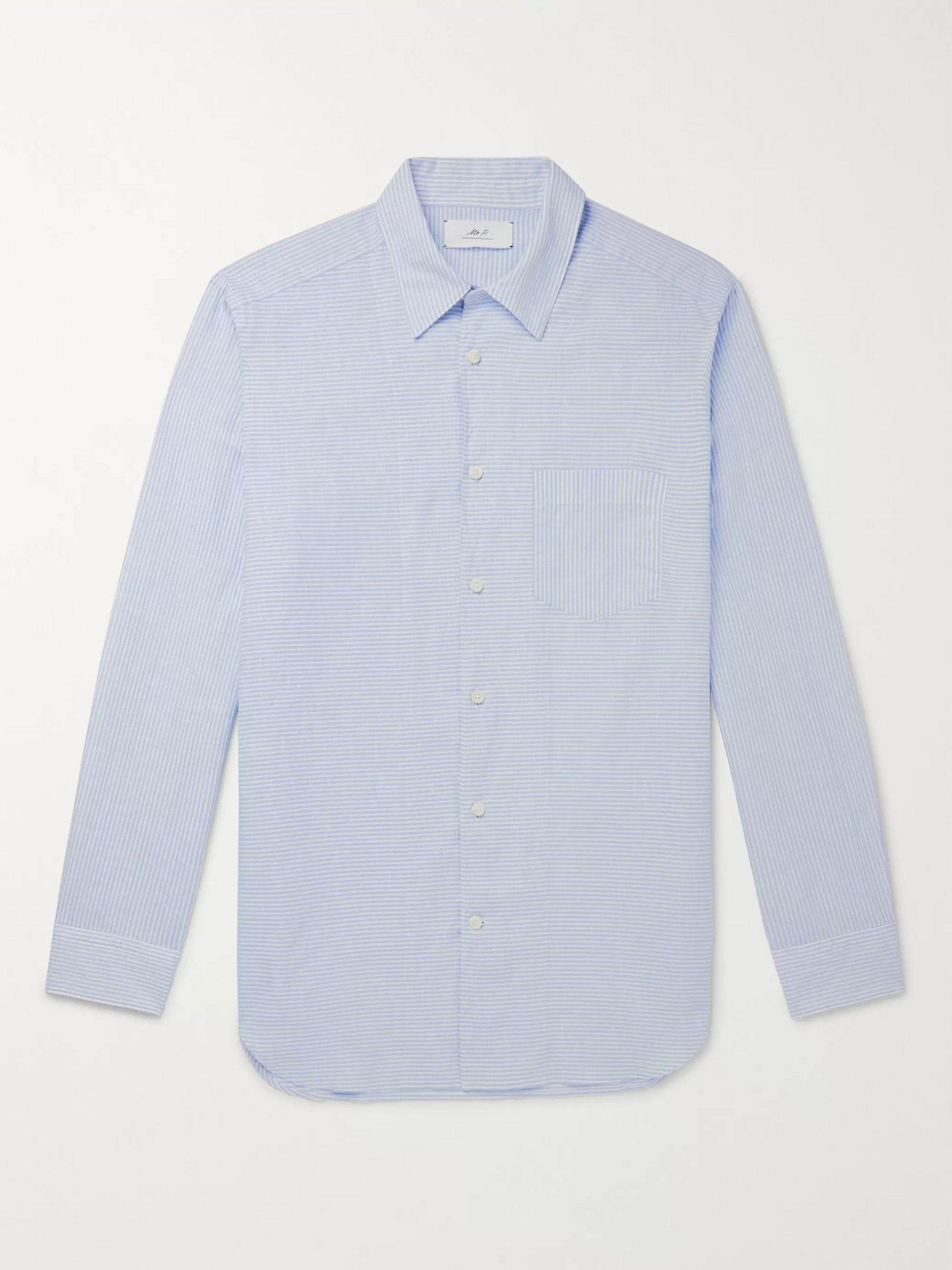 Mr P. Striped Linen and Cotton-Blend Shirt