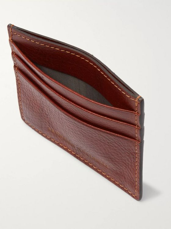 Brunello Cucinelli Burnished Full-Grain Leather Cardholder