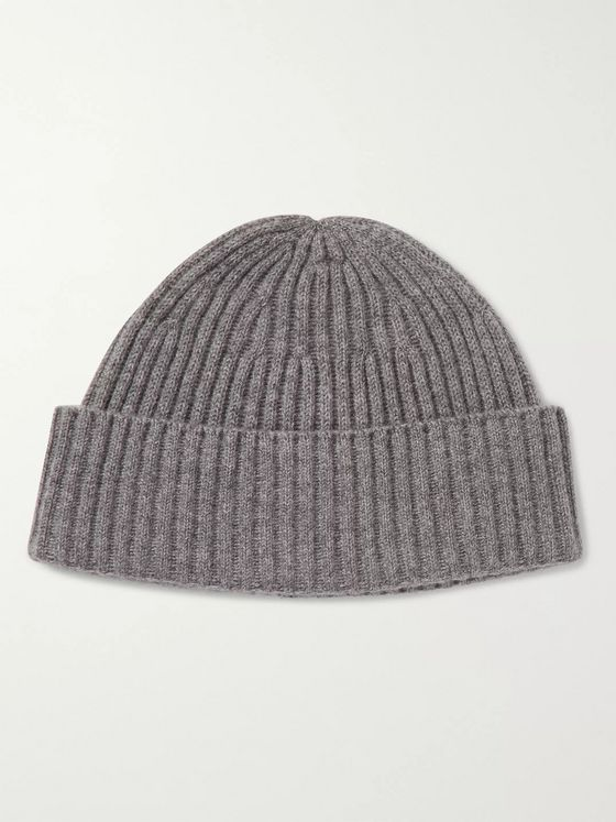 BRUNELLO CUCINELLI Ribbed Mélange Cashmere Beanie