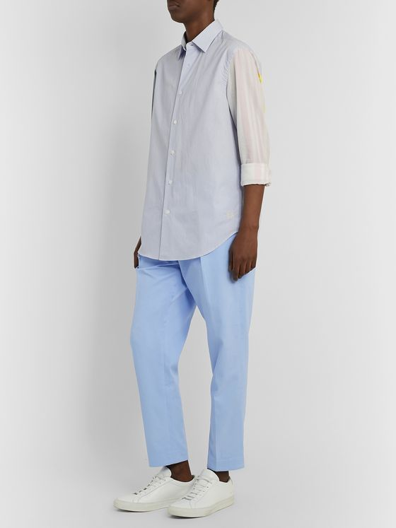 EQUIPMENT The Original Tapered Pleated Lyocell and Cotton-Blend Trousers