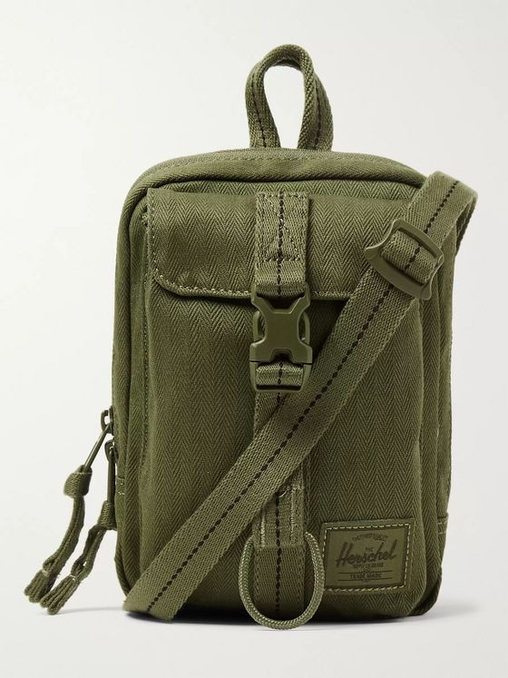 Herschel Supply Co Form Herringbone Canvas Messenger Bag