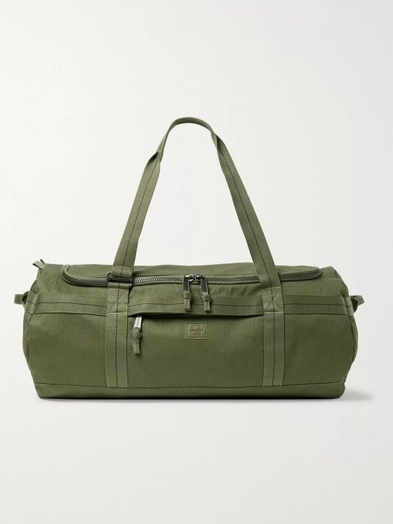 Herschel Supply Co Sutton Herringbone Canvas Duffle Bag