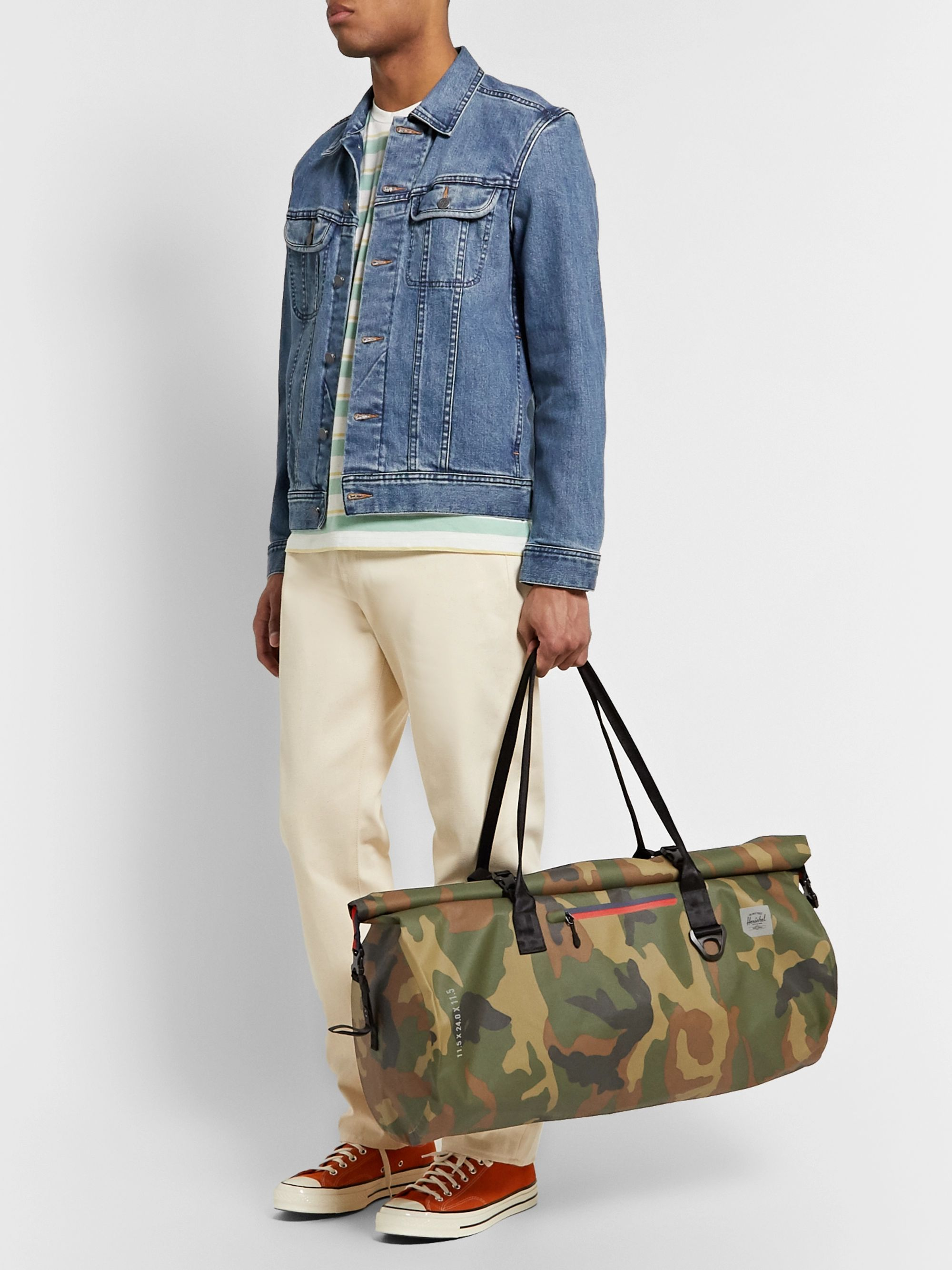 Herschel Supply Co Trail Coast Camouflage-Print Tarpaulin Dry Duffle Bag