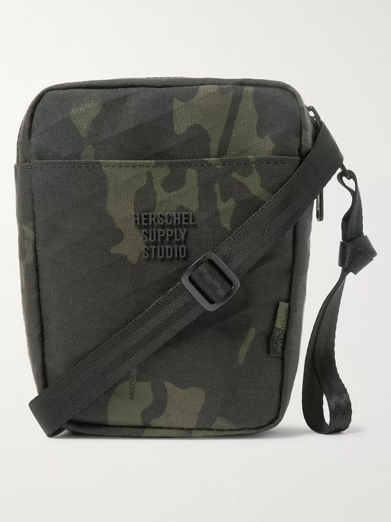 Herschel Supply Co Cruz Camouflage-Print Sailcloth Messenger Bag