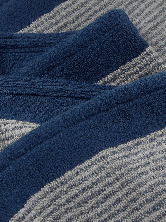 Cleverly Laundry Set of Three Striped Cotton-Terry Bath Towels