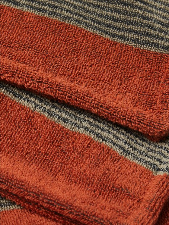 Cleverly Laundry Set of Two Striped Cotton-Terry Shave Towels