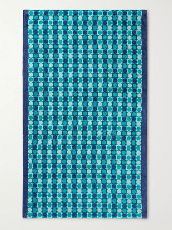 Cleverly Laundry Cotton-Terry Jacquard Beach Towel