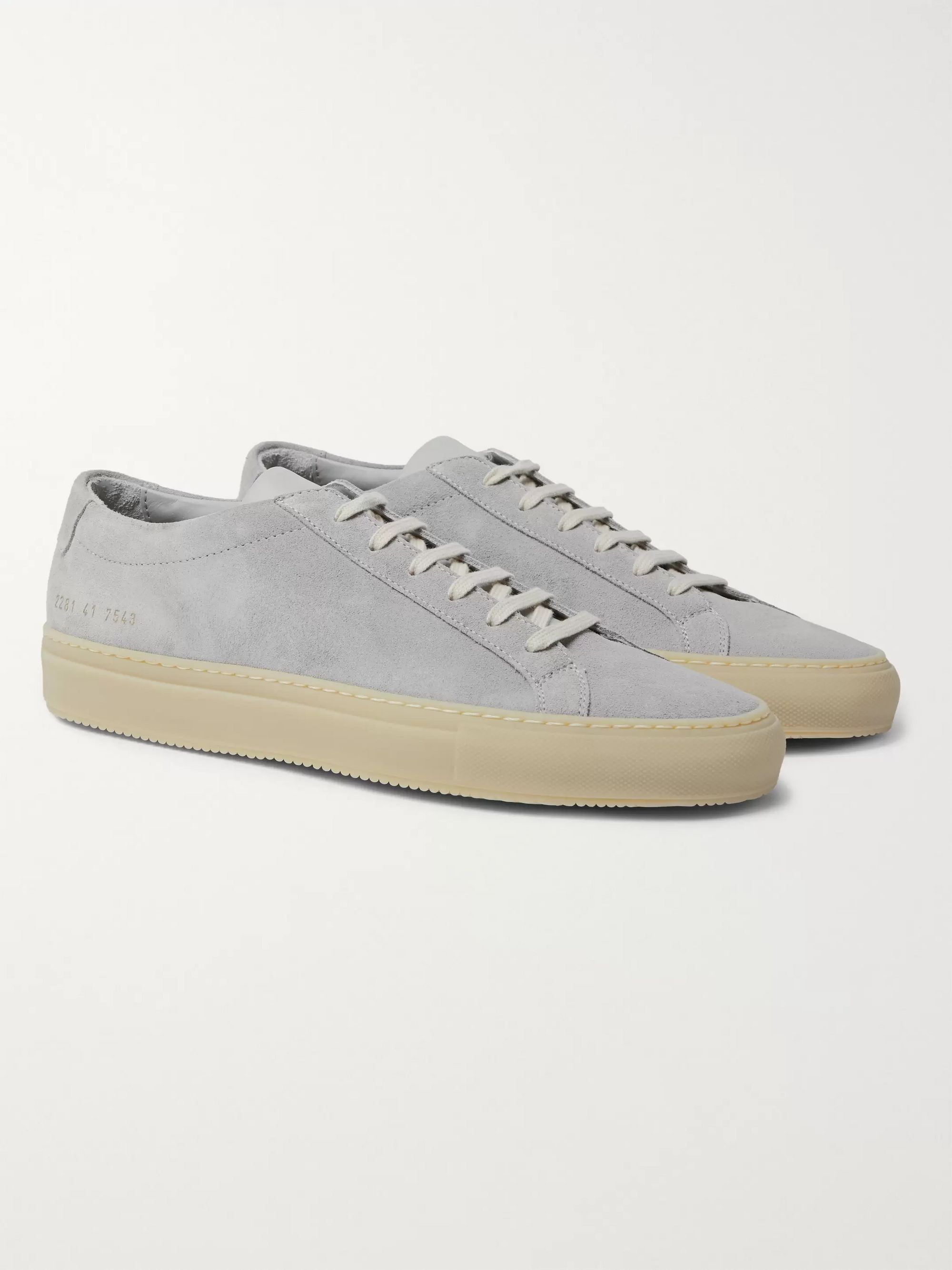 Gray Achilles Suede and Leather