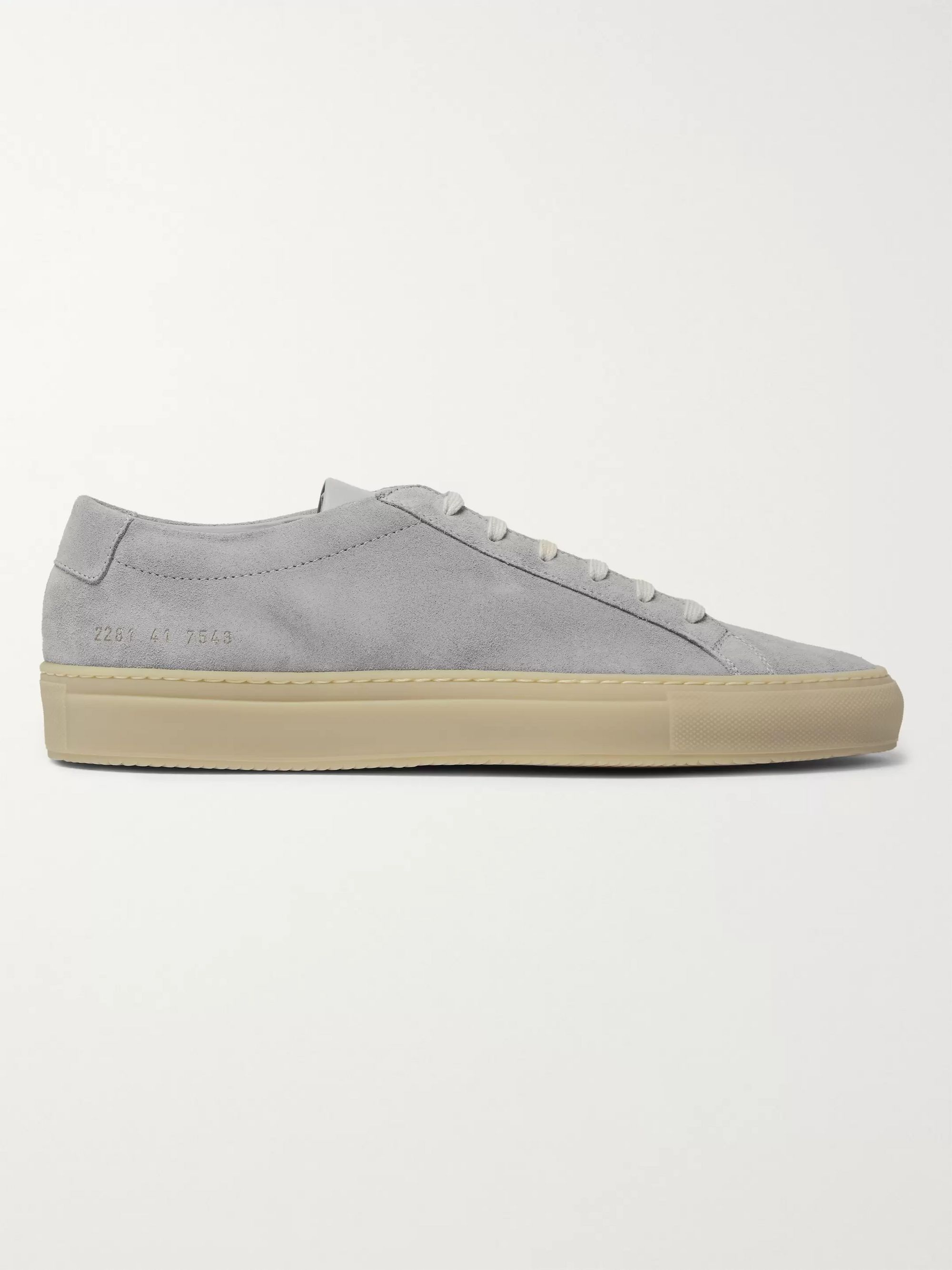 Common Projects Achilles Suede and Leather Sneakers