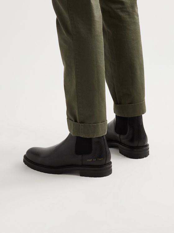 COMMON PROJECTS Full-Grain Leather Chelsea Boots