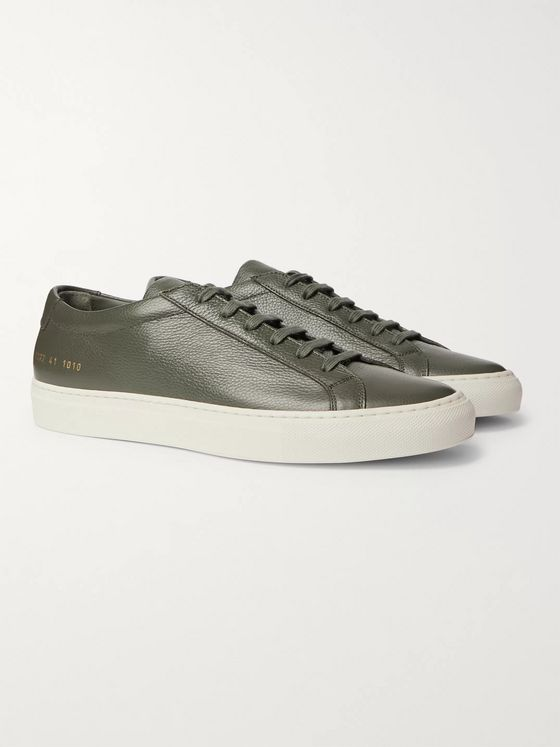 Common Projects Achilles Pebble-Grain Leather Sneakers