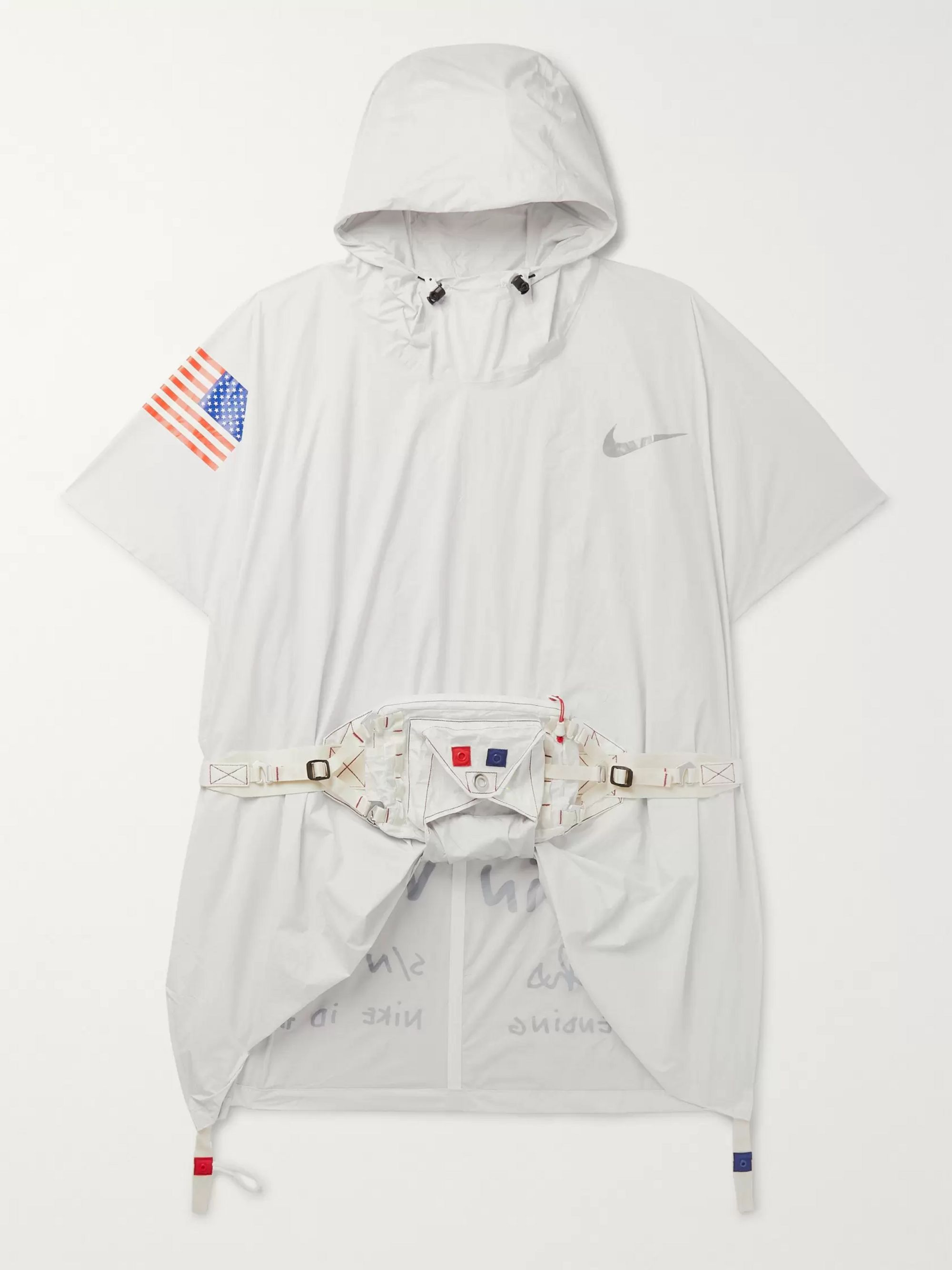 apariencia elegante los Angeles varios diseños White + Tom Sachs NRG Printed Nylon Hooded Poncho   Nike   MR PORTER