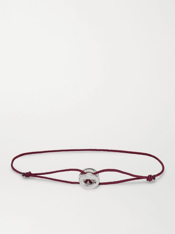 LE GRAMME Sterling Silver and Cord Bracelet