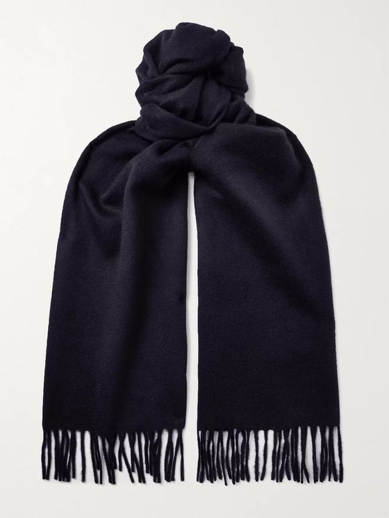 TOM FORD Fringed Double-Faced Cashmere Scarf