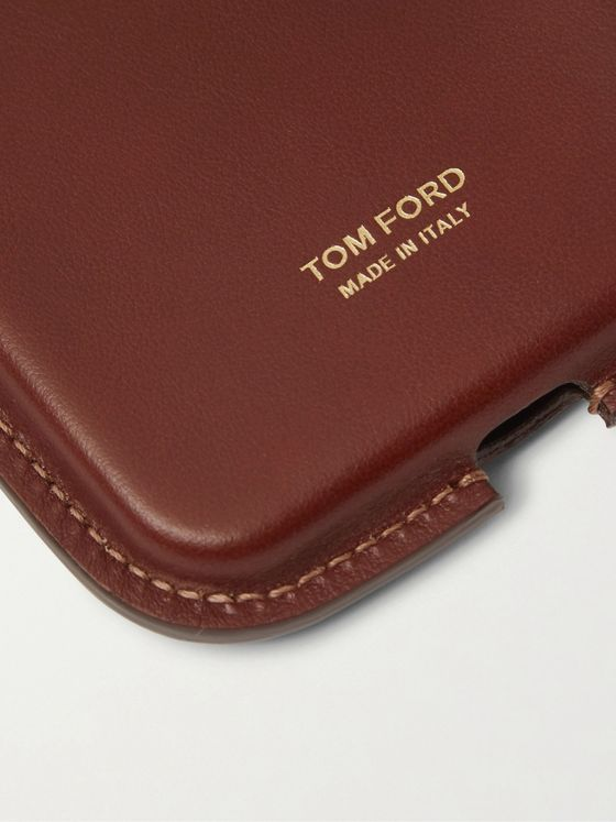 TOM FORD Leather Phone Case with Lanyard
