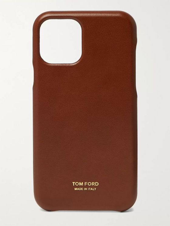 TOM FORD Logo-Detailed Leather iPhone 11 Pro Phone Case