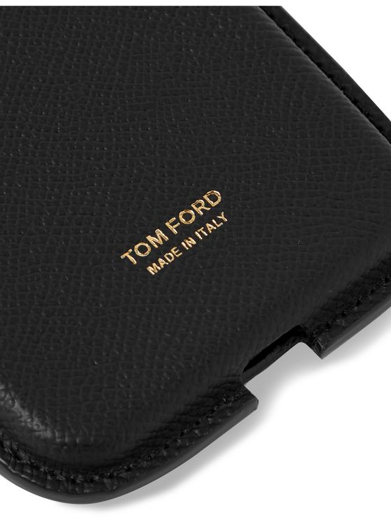 TOM FORD Full-Grain Leather Phone Pouch with Lanyard