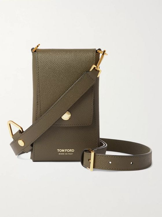 TOM FORD Full-Grain Leather Phone Pouch