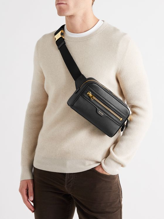 TOM FORD Full-Grain Leather Belt Bag