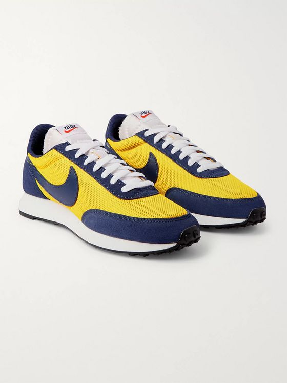 Nike Air Tailwind 79 Mesh, Suede and Leather Sneakers