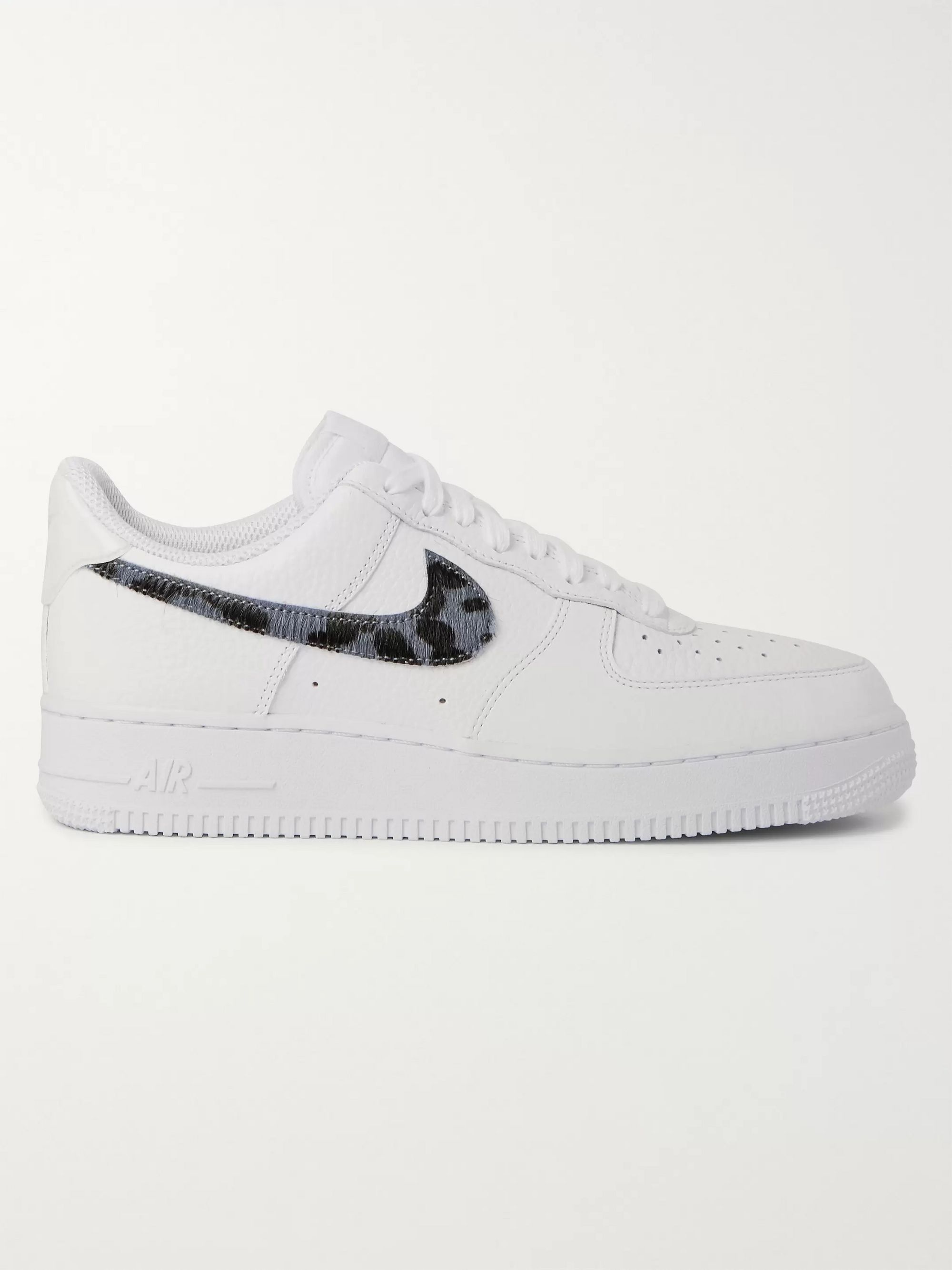 Nike Air Force 1 LV8 Calf Hair and Croc-Effect Full-Grain Leather Sneakers