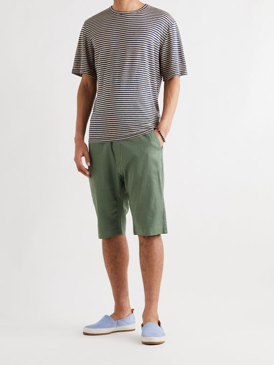 BARENA Striped Linen T-Shirt