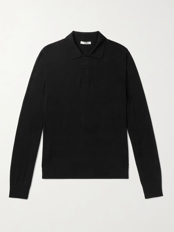 THE ROW Diego Wool Polo Shirt
