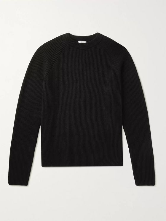 THE ROW Thierry Ribbed Wool and Cashmere-Blend Sweater