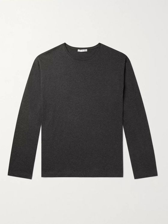 THE ROW Jaco Mélange Cotton and Cashmere-Blend Jersey T-Shirt
