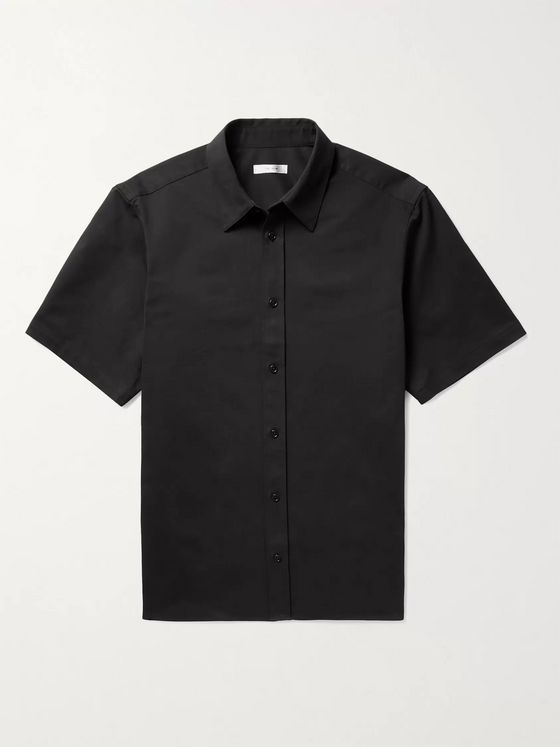 THE ROW Tomek Stretch-Cotton and Cashmere-Blend Twill Shirt