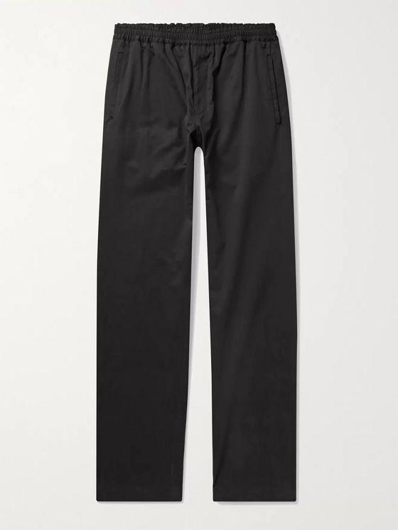 THE ROW Josh Cotton-Blend Drawstring Trousers