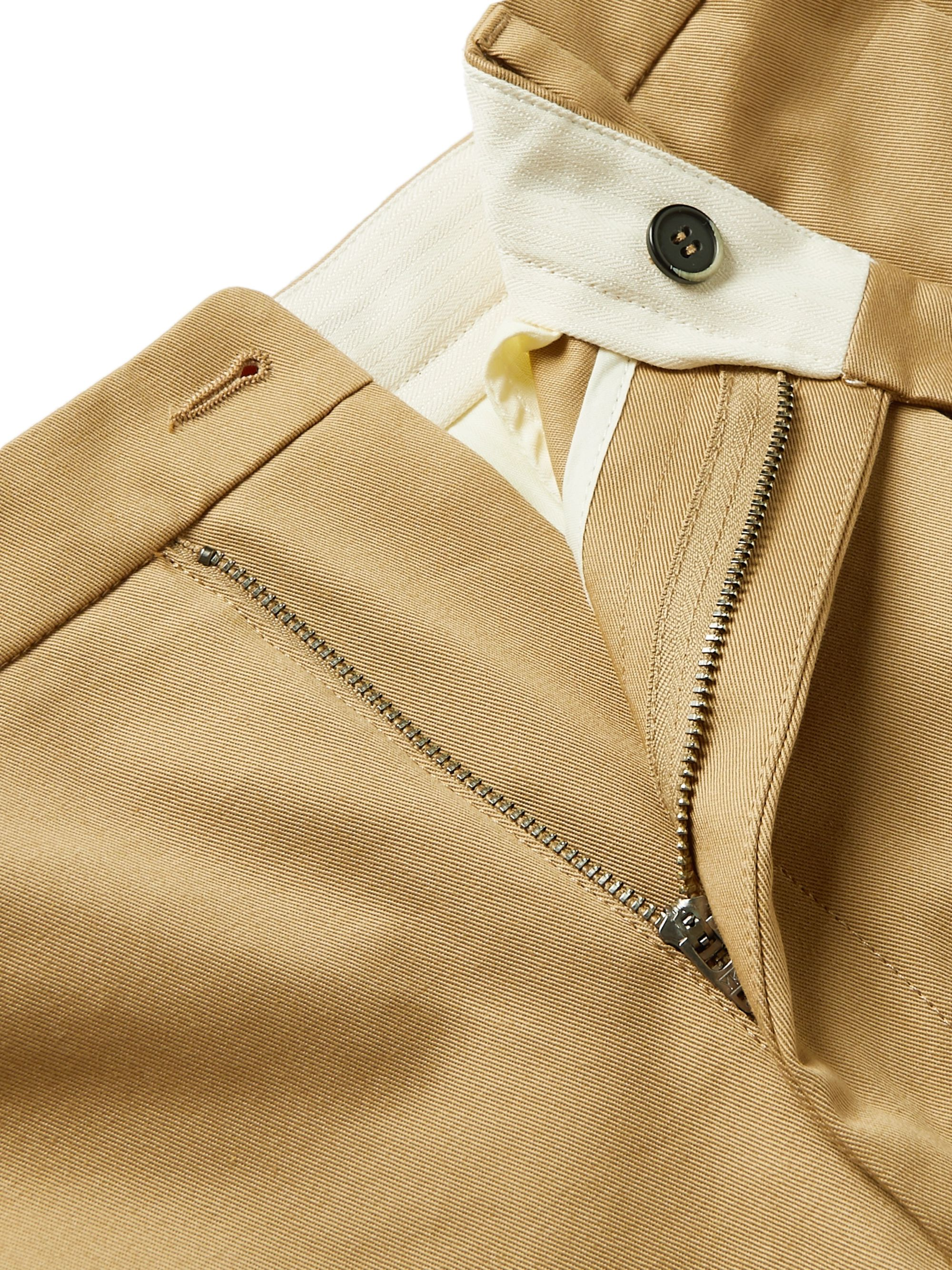 Barena Masco Tapered Pleated Cotton-Twill Trousers