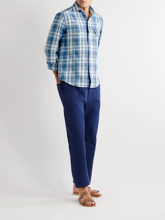 Barena Checked Cotton-Flannel Shirt