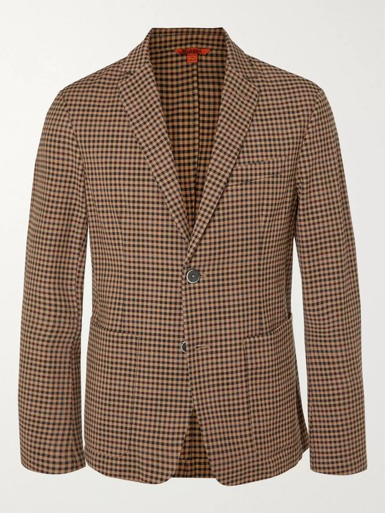 Barena Slim-Fit Checked Virgin Wool-Blend Blazer