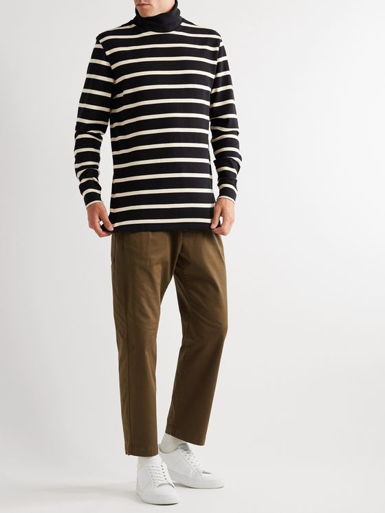 Barena Striped Cotton Rollneck Sweater