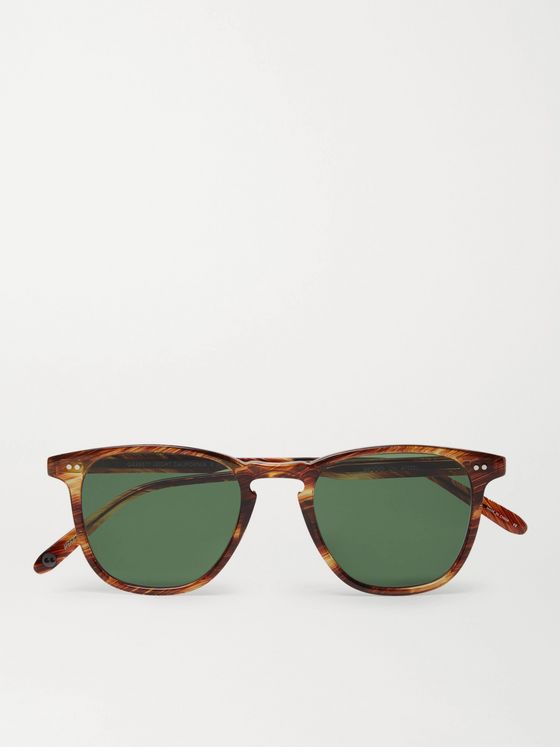 GARRETT LEIGHT CALIFORNIA OPTICAL Brooks 47 Square-Frame Tortoiseshell Acetate Sunglasses