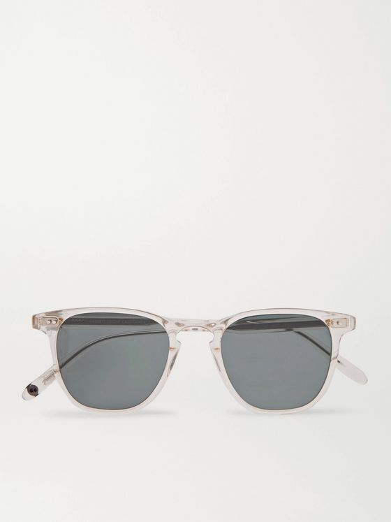 GARRETT LEIGHT CALIFORNIA OPTICAL Brooks 47 Square-Frame Acetate Sunglasses