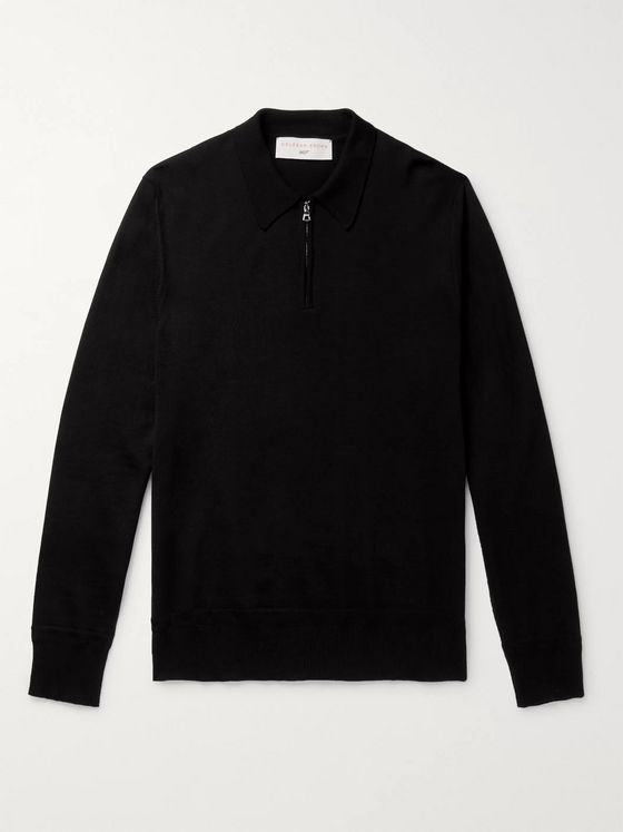 Orlebar Brown + 007 Moonraker Merino Wool Half-Zip Sweater