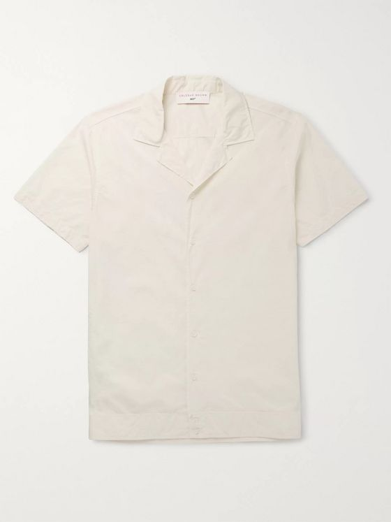 Orlebar Brown + 007 Golden Gun Camp-Collar Cotton Shirt