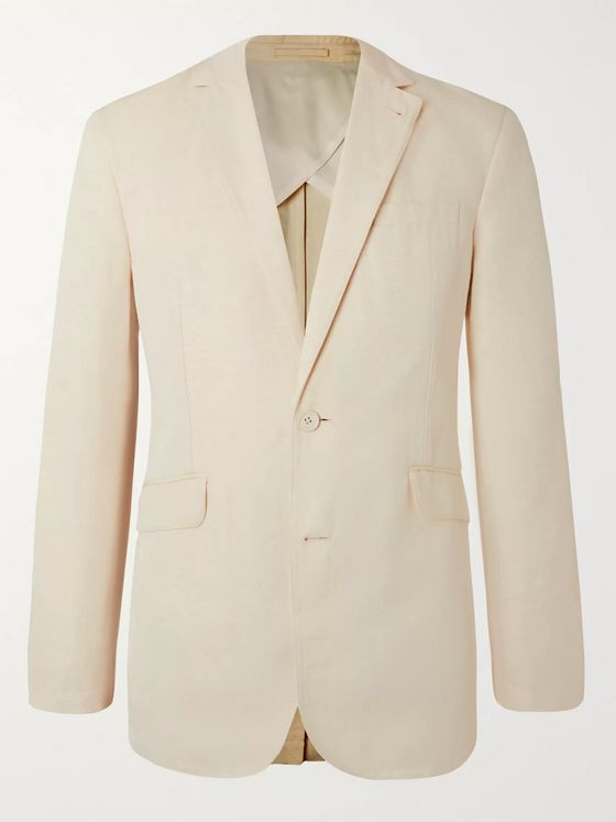 Orlebar Brown + 007 Bond Slim-Fit Unstructured Cotton and Linen-Blend Suit Jacket