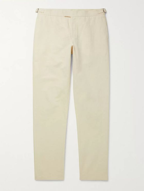Orlebar Brown + 007 Bond Cotton and Linen-Blend Twill Suit Trousers