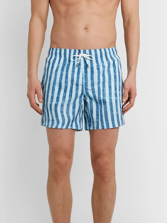 Ermenegildo Zegna Mid-Length Striped Swim Shorts