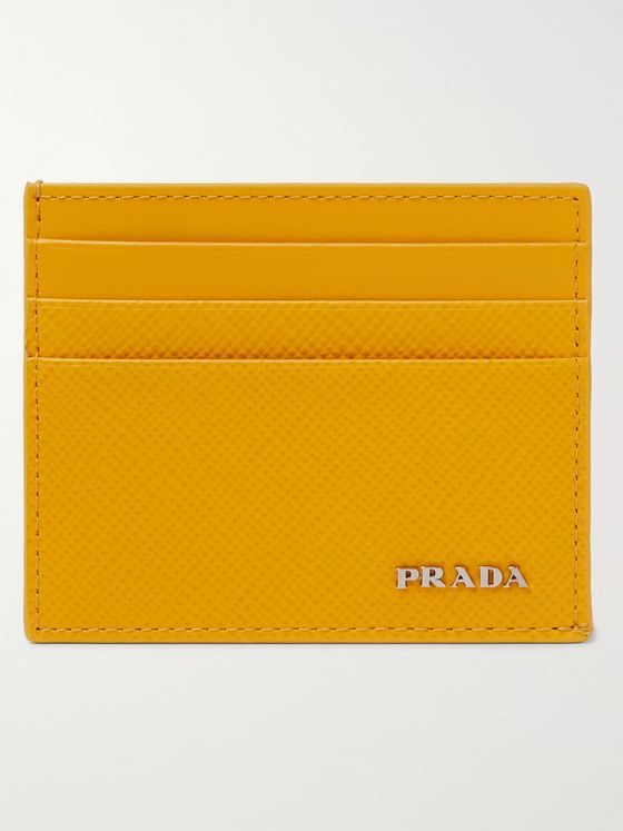 Prada Logo-Detailed Saffiano Leather Cardholder