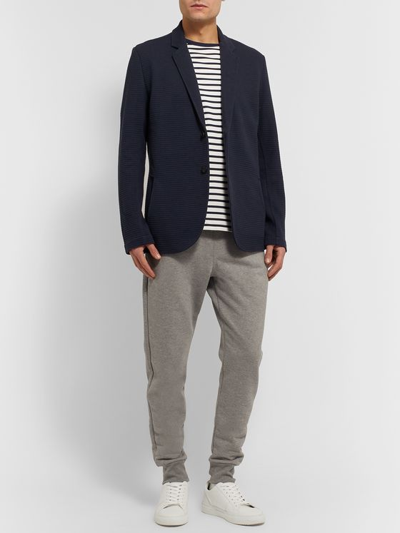 Hamilton and Hare Waffle-Knit Cotton Blazer